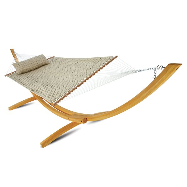 Laffey Large Soft Weave Double Tree Hammock by Latitude Run