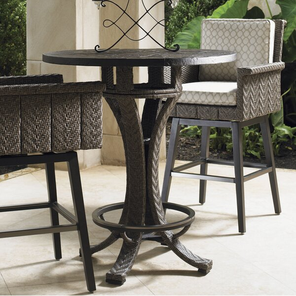 Olive Wicker Bistro Table by Tommy Bahama Outdoor