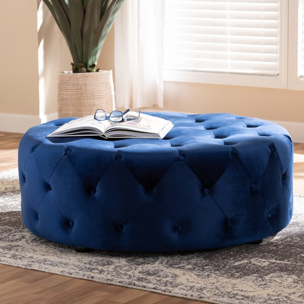 Capone Tufted Cocktail Ottoman by House of Hampton
