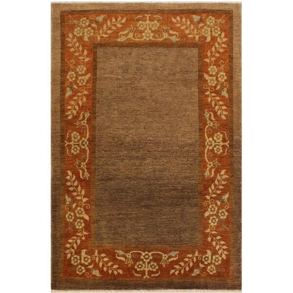 One-of-a-Kind Milo Hand-Knotted Wool Brown/Rust Area Rug by Fleur De Lis Living