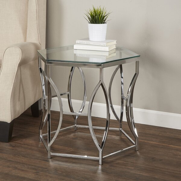 Frostia Contemporary End Table by Orren Ellis