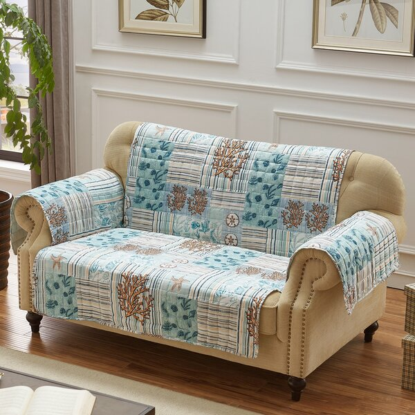 Stannard Box Cushion Loveseat Slipcover By Highland Dunes