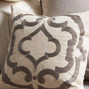 Manosque Embroidered Design Throw Pillow