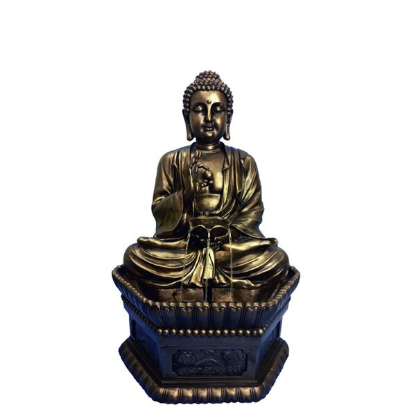 Resin Buddha Sitting Fountain by Hi-Line Gift Ltd.