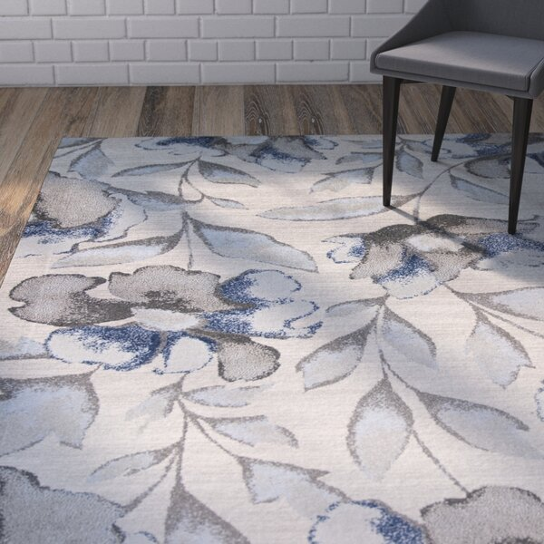 Upper Vobster Gray/Blue Area Rug by Wrought Studio