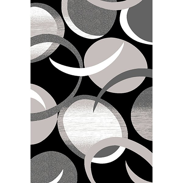 Mccampbell 3D Black/Gray Area Rug by Ivy Bronx
