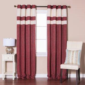 Heavyweight Striped Semi-Sheer Grommet Curtain Panels (Set of 2)