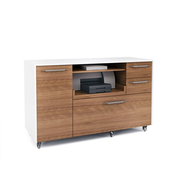Format 2-Drawer Mobile Filing Cabinet by BDI