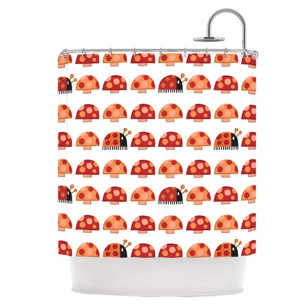 Ladybugs Shower Curtain by East Urban Home