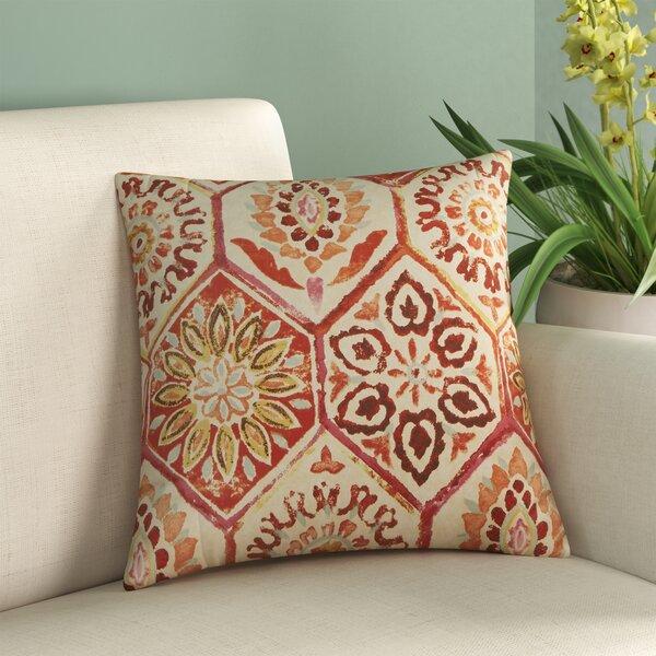 Burkburnett Cotton Throw Pillow by Bungalow Rose