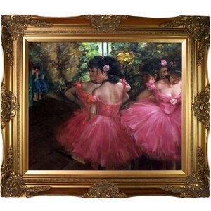 Dancers in Pink by Edgar Degas Framed Painting Print by La Pastiche