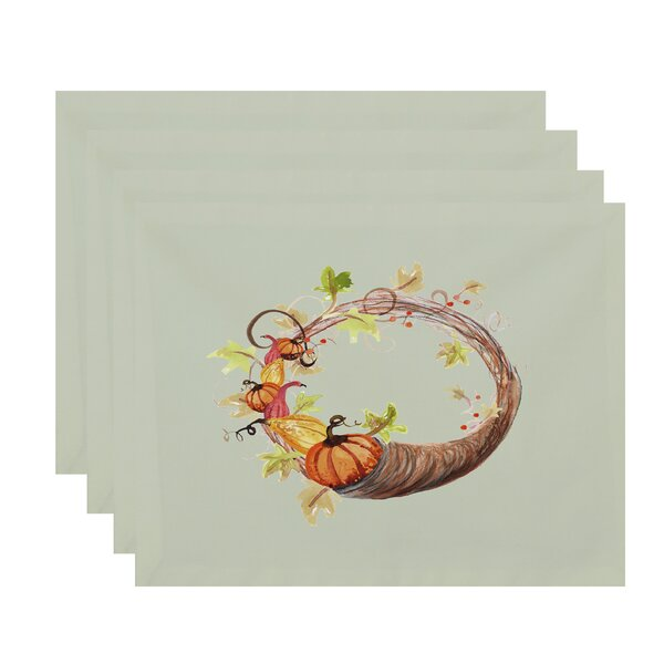 Bigner Cornicopia Wreath Fall 18 Placemat (Set of 4) by August Grove