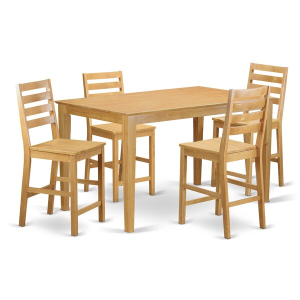 Smyrna 5 Piece Counter Height Pub Table Set By Charlton Home 2019 Online