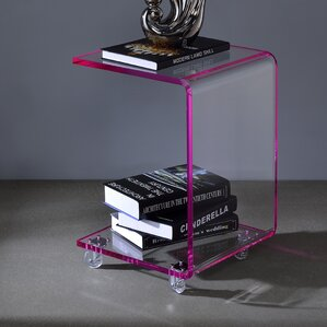Aileen Acrylic C Shape End Table by Wade Logan
