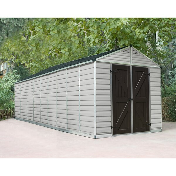SkyLight™ 7 ft. 9 in. W x 22 ft. 3 in. D Plastic Storage Shed by Palram