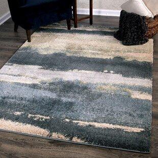 Affordable Price Oconee Soft Green/Black/Gray Area Rug ByIvy Bronx