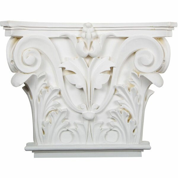 Acanthus 13 5/8H x 16 1/2W x 3 3/4D Leaf Onlay Capital by Ekena Millwork