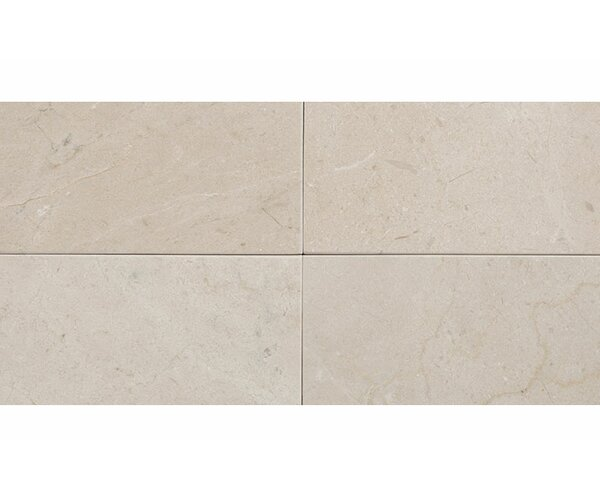 Crema Marfil 3 x 6 Marble Field Tile in Beige by Parvatile