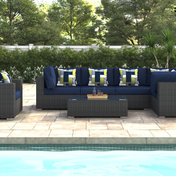 Tripp 7 Piece Sunbrella Sectional Seating Group with Cushions by Brayden Studio