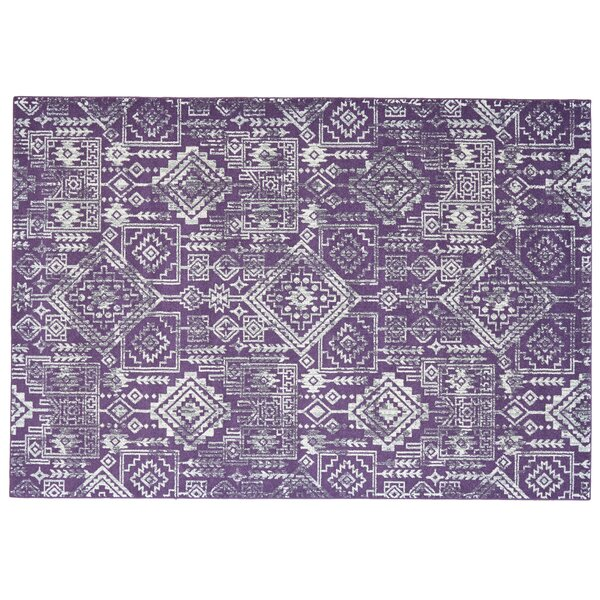 Gharass Violet Area Rug by Bungalow Rose