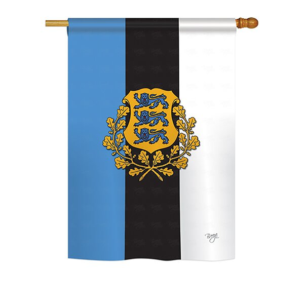 Estonia 2-Sided Vertical Flag by Breeze Decor