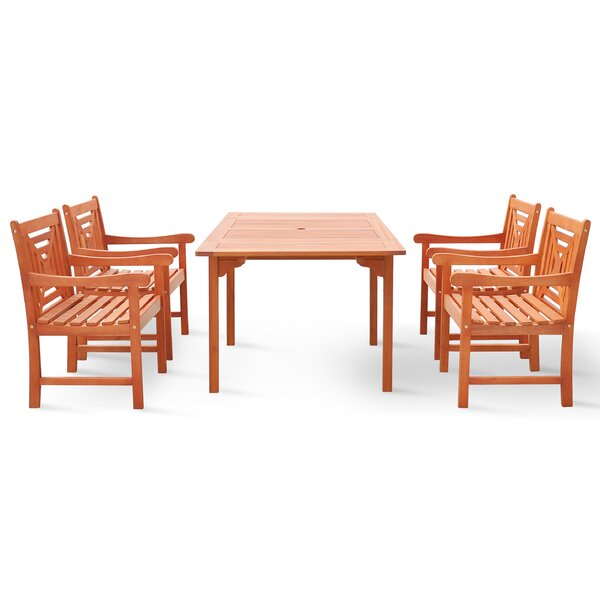 Moore 5 Piece Dining Set by Darby Home Co