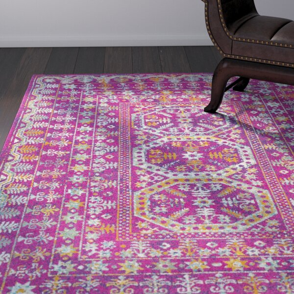 Arteaga Traditional Vintage Pink Area Rug by Bungalow Rose