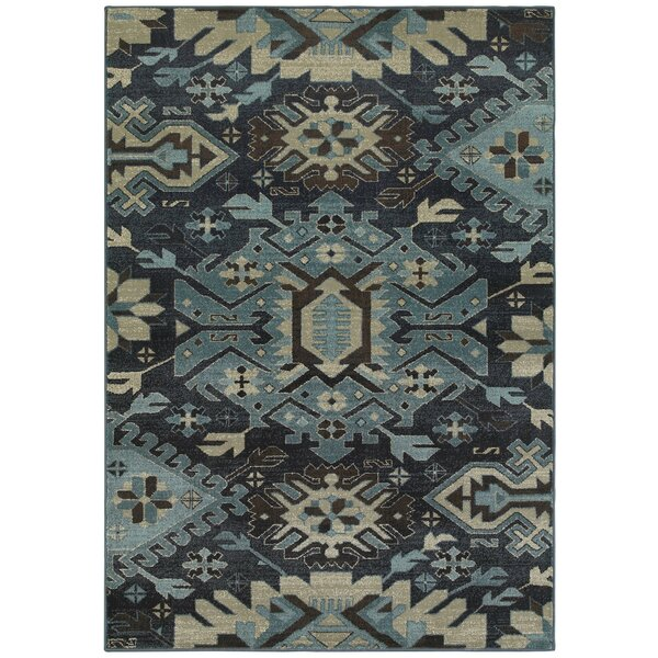 Reynolds Blues Navy/Blue Area Rug by World Menagerie
