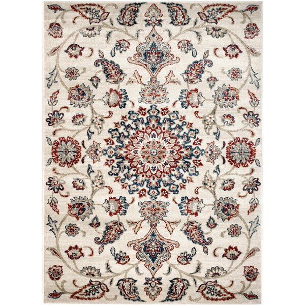 Chartridge Oriental Cream Area Rug by Charlton Home