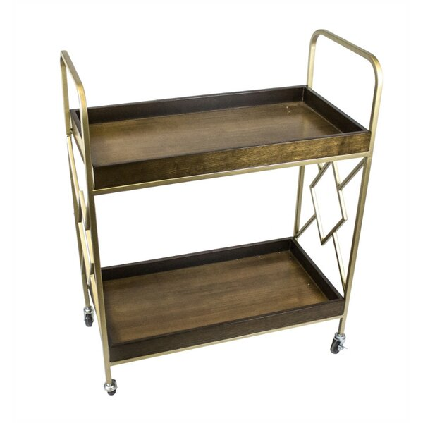 Danyel Metal Bar Cart by World Menagerie