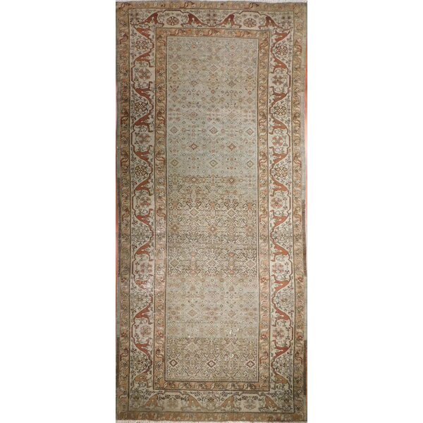 Lazarus Antique Hand-Knotted Wool Rust/Olive Area Rug