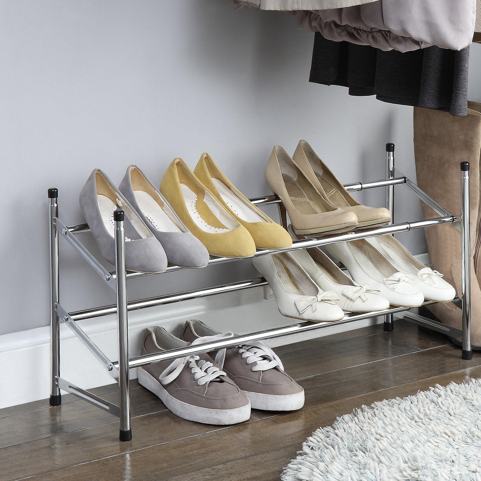 Oia Expandable 6 Pair Shoe Rack Reviews Wayfair