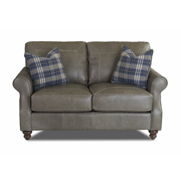 Belloreid Leather Loveseat by Canora Grey