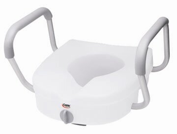 E-Z Lock Raised Toilet Seat with Adjustable Handles by Carex