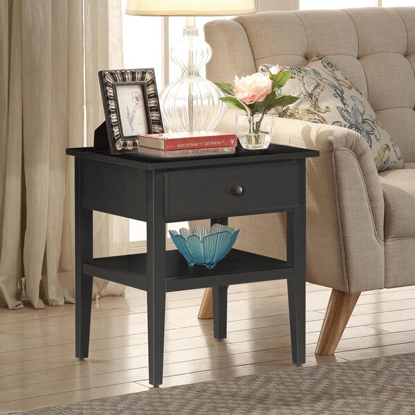Celina End Table With Storage by Homestyle Collection