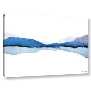 'Mountain Reflection ' Graphic Art Print on Canvas by Zipcode Design