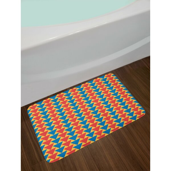 Kids Triangles Downwards Bath Rug by East Urban Home