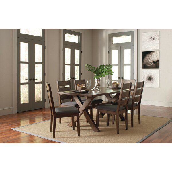 Montanez 7 Piece Solid Wood Dining Set By Loon Peak