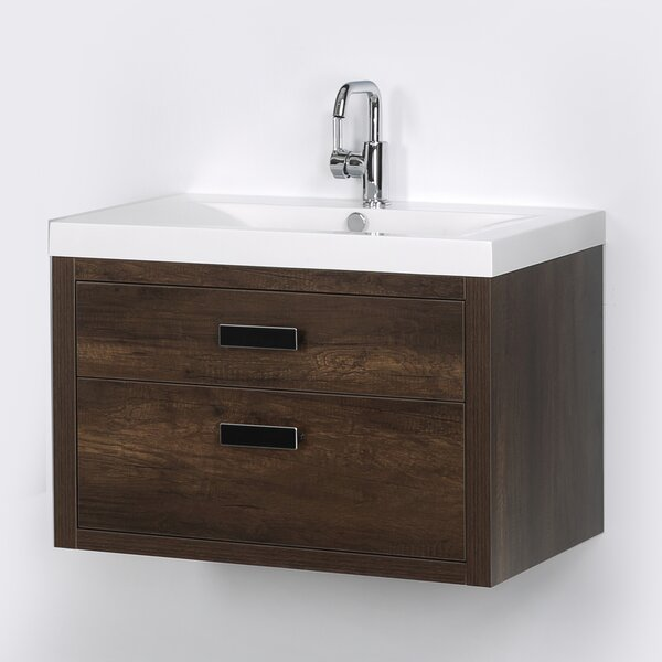 32 Wall Mounted Single Bathroom Vanity Set by Streamline Bath