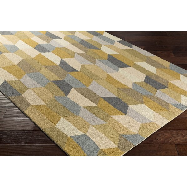 Senger Hand-Tufted Beige/Gray Area Rug by Wrought Studio