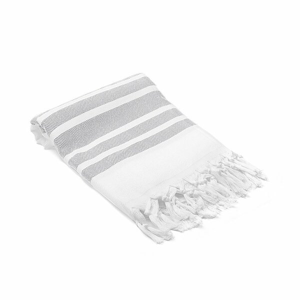 Ruthar Herringbone Turkish Cotton Beach Towel by Rosecliff Heights