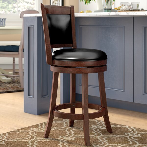 Quarry 25 Swivel Bar Stool by Three Posts