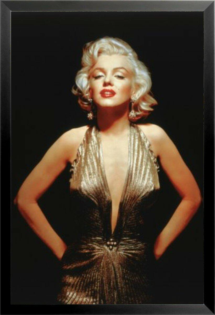 Buy Art For Less \'Glamorous Marilyn Monroe Poster\' Framed ...