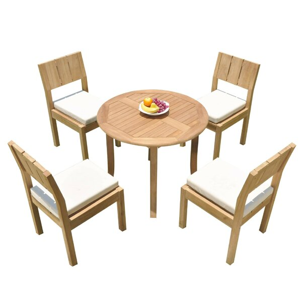 Zechariah 5 Piece Teak Dining Set by Rosecliff Heights