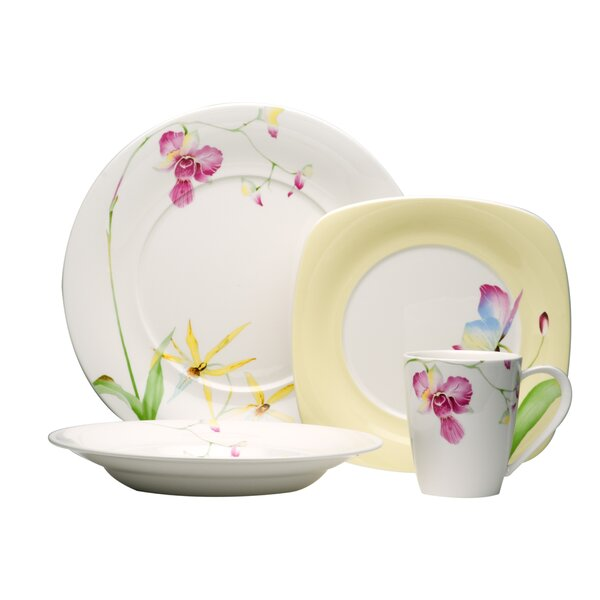 Leilani 16 Piece Dinnerware Set, Service for 4 by Red Vanilla