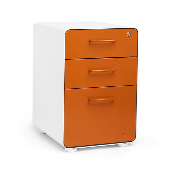 Exceptionnel Poppin 3 Drawer File Cabinet