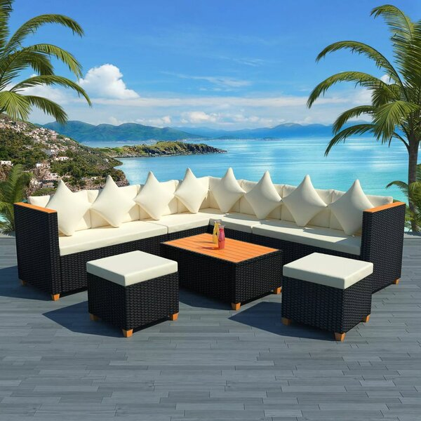 Wadebridge Garden 7 Piece Sectional Seating Group with Cushions by Ivy Bronx