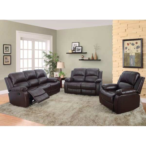 Borger 3 Piece Reclining Living Room Set by Red Barrel Studio