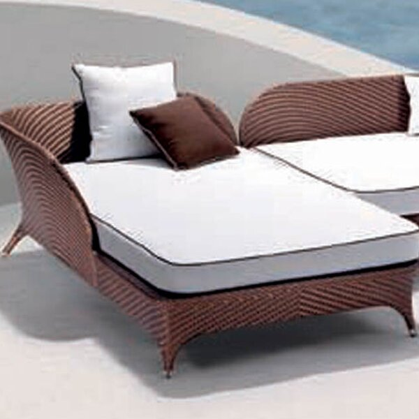 Flora Right Corner Daybed Sectional Piece with Cushion by 100 Essentials