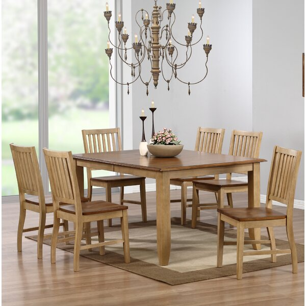 #1 Huerfano Valley Solid Wood Dining Table By Loon Peak 2019 Coupon